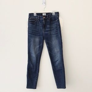 J Crew 9 Inch High Rise Toothpick Jeans